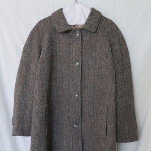 Orvis Harris Tweed Long Coat Herringbone